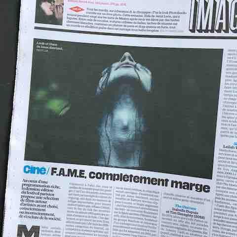 Article du journal Libération sur le festival F.AM.E 2019