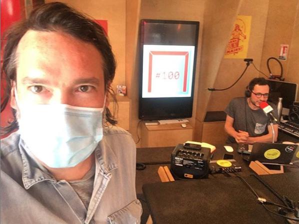 Olivier Forest et Antoine Dabrowski au studio Tsugi Radio
